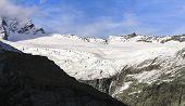 The Bonar Glacier Sits Beneath Mt. Aspiring In The Mt. Aspiring National Park On New Zealands South poster