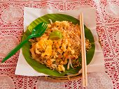 Padthai On Banana Leaf
