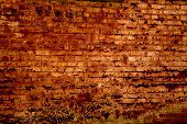 Textura de la antigua muralla de ladrillo rojo