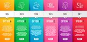Uv Protection, Teamwork And Online Shopping Line Icons Set. Infographic Timeline. Refer Friend, Face poster