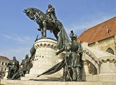 The Statue Of The King Matthias Corvinus From The Front