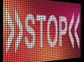 Stop Screen Showing Denial Panic And Negativity