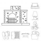 Vector Illustration Of Accessories And Product Icon. Set Of Accessories And Style Stock Vector Illus poster
