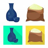 Isolated Object Of Crop And Ecological Sign. Collection Of Crop And Cooking Vector Icon For Stock. poster