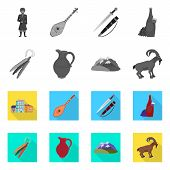 Isolated Object Of Culture And Sightseeing Sign. Set Of Culture And Originality Vector Icon For Stoc poster