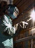Welding At Night