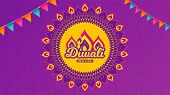 Diwali Festival Background. Hindu Festive Modern Greeting Card. Indian Rangoli Art Concept. Deepaval poster
