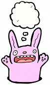 image of rabbit hole  - cartoon pink rabbit in hole - JPG