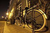 Bike in the night of Amsterdam