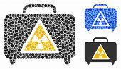Dangerous Luggage Composition For Dangerous Luggage Icon Of Filled Circles In Different Sizes And Co poster