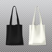 Isolated Black And White Woman Bag Or Female Handbag On Transparent Background. Fashion Leather Obje poster