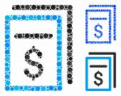 Invoices Mosaic For Invoices Icon Of Circle Elements In Different Sizes And Color Tinges. Vector Cir poster