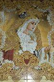 Detalle de la Virgen de la Candelaria en Córdoba en España