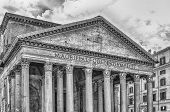 Facade Of The Pantheon, Iconic Landmark Which Was Formerly A Roman Temple, Now A Church And One Of T poster