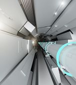 foto of higgs boson  - Hadron collider tunnel  - JPG