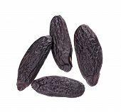Tonka Beans Isolated On White Background. Bean Of Dipteryx Odorata, Cumaru Or Kumaru. Fresh Aroma To poster