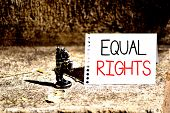 Word Writing Text Equal Rights. Business Concept For Equality Before The Law When All Showing Have T poster