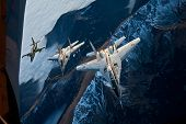 stock photo of fulcrum  - Two MiG - JPG