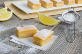 Lemon Bars - Traditional American Sweets