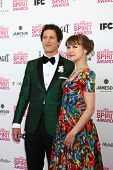 LOS ANGELES - FEB 23:  Andy Samberg, Joanna Newsom attends the 2013 Film Independent Spirit Awards a