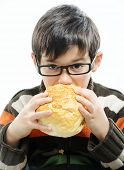 Kid eating bread