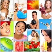 stock photo of loving_couple  - Healthy lifestyle - JPG