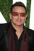 WEST HOLLYWOOD, CA - FEB 24: Bono at the Vanity Fair Oscar Party at Sunset Tower on February 24, 2013 in West Hollywood, California