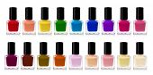 picture of nail paint  - red nail polish bottle on white background - JPG