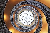 stock photo of staircases  - Double helix spiral staircase masterpiece in Vatican - JPG