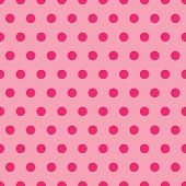 stock photo of dot pattern  - A background illustration of polka dots in shades of pink - JPG
