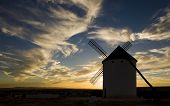 windmill at sunset, Campo de Criptana, Castile-La Mancha, Spain