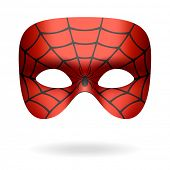 image of black widow spider  - Spider mask - JPG