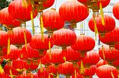 stock photo of chinese new year 2013  - Red Chinese Lanterns decorate in Bangkok - JPG