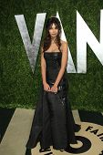 WEST HOLLYWOOD, CA - FEB 24: Madalina Ghenea at the Vanity Fair Oscar Party at Sunset Tower on February 24, 2013 in West Hollywood, California