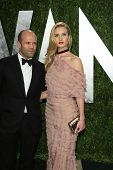 WEST HOLLYWOOD, CA - FEB 24: Jason Statham, Rosie Huntington-Whiteley at the Vanity Fair Oscar Party