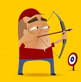 picture of longbow  - archery competition - JPG
