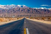 picture of arid  - A scenic road in northern Argentina - JPG