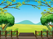 Illustration of a natural view of nature