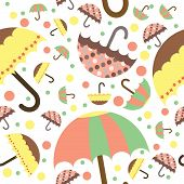 Seamless umbrella printed pattern