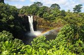 pic of pacific islands  - Rainbow Falls near Hilo  - JPG