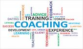 foto of mentoring  - A word cloud of coaching related items - JPG