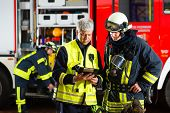 stock photo of oxygen mask  - Fire brigade  - JPG