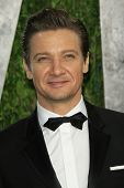WEST HOLLYWOOD, CA - FEB 24: Jeremy Renner at the Vanity Fair Oscar Party at Sunset Tower on February 24, 2013 in West Hollywood, California