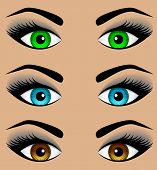 Set the eyes of different colors