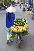 Typical Street Vendor In Hanoi