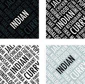 indian square background set