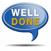 pic of job well done  - Well done congratulations with your success - JPG
