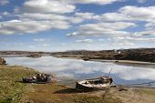 Old Fishing Boats Beached On Donegal Beach