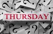 picture of thursday  - Questions about the Thursday too many question marks - JPG