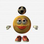 image of feeling stupid  - smiley girl football - JPG